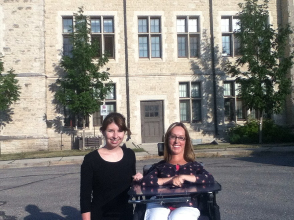 Cristina Waldner with a friend and classmate at CMU. Perseverance, Perspective, and Lots of Papers: My Experience at CMU