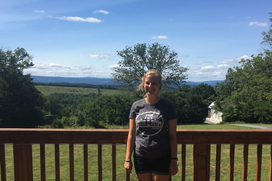 Laura Carr-Pries at Brethren Woods camp in Keezeltown, Virginia.