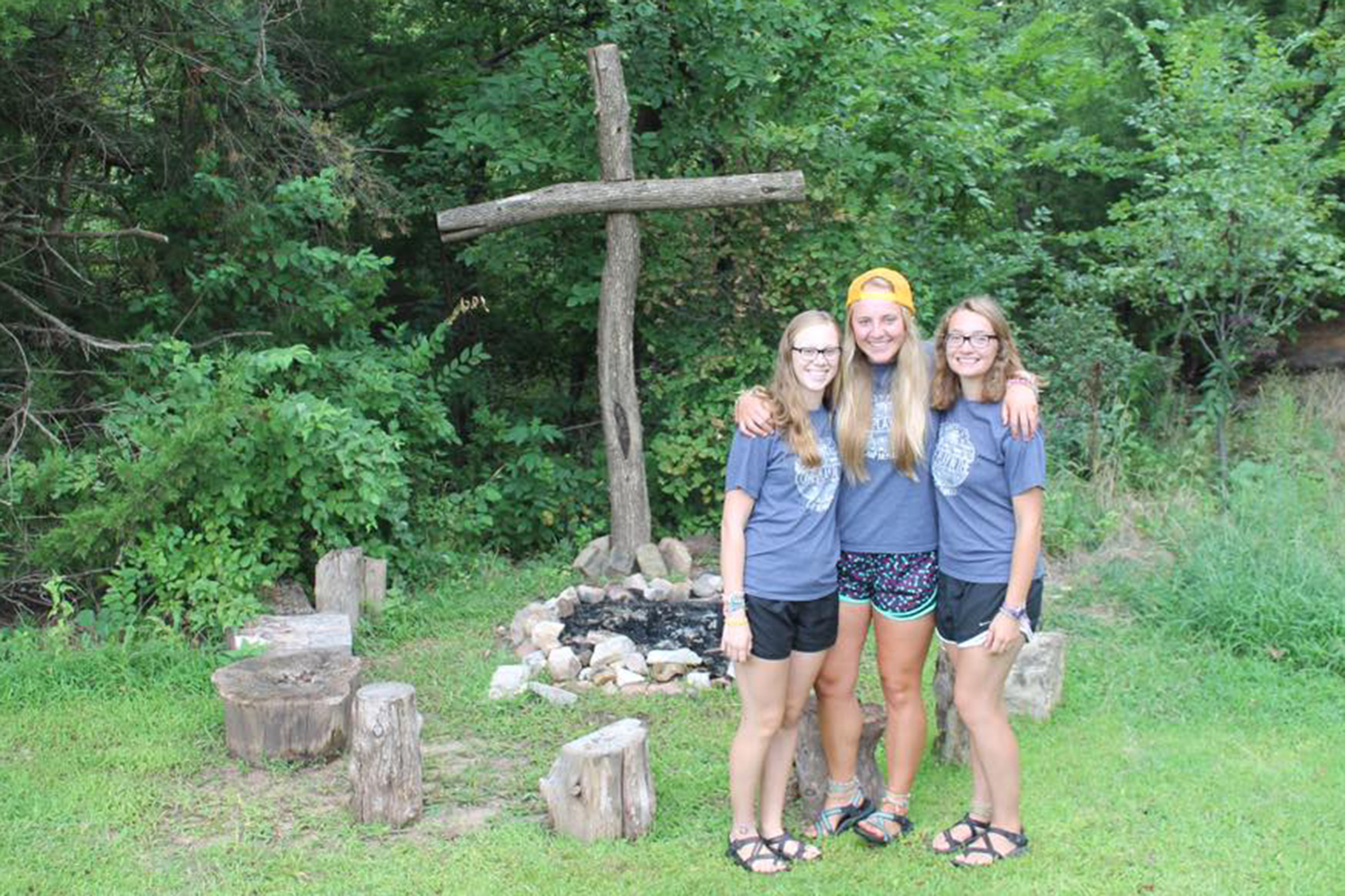 Lizzie Schrag (far right) with her roommates from Camp Mennoscah. Lizzie Schrag: knowing God beyond academia