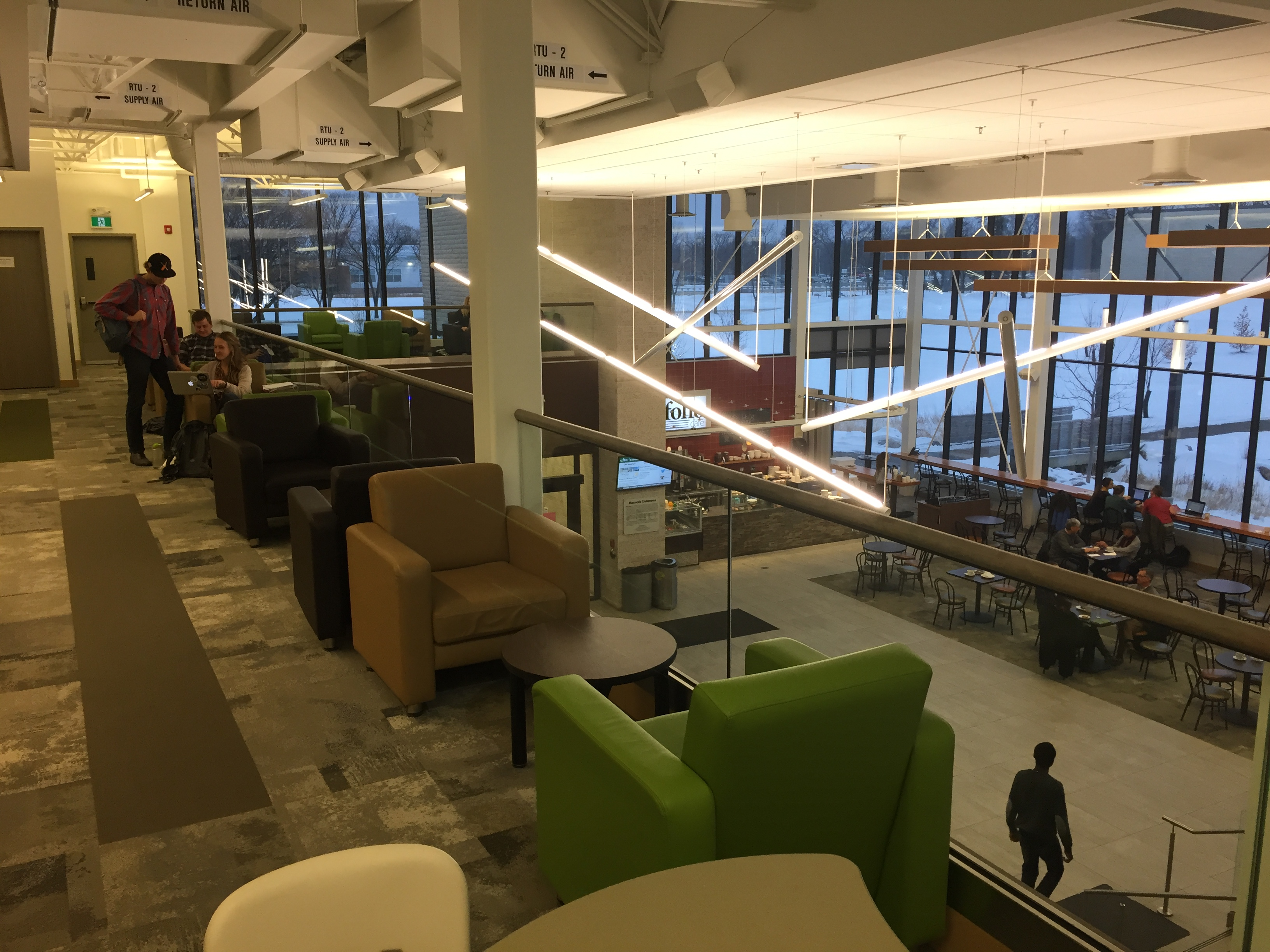 Folio Cafe and the Mezzanine - The Pros and Cons of CMU's Many Study Spaces