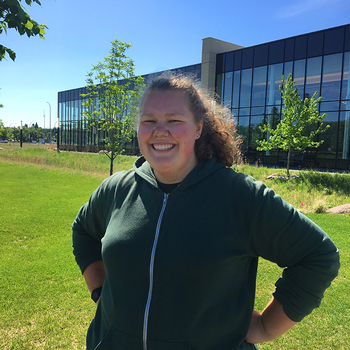 Summer jobs: On-campus employment at CMU. Rebecca Janzen is working at CMU as a groundskeeper this summer.
