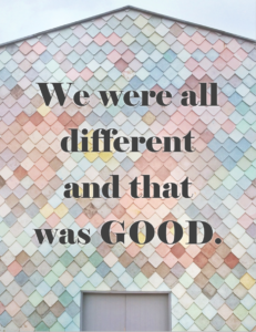 We're all different...